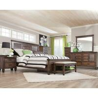 Franco Burnished Oak Queen Five-piece Bedroom Set Product Image