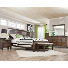 Franco Burnished Oak Queen Five-piece Bedroom Set