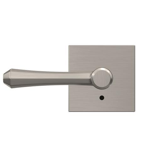 Custom Dempsey Lever with Collins Trim Hall-Closet and Bed-Bath Lock - Satin Nickel