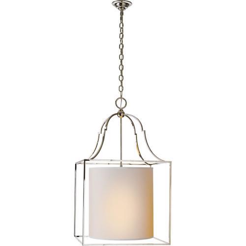 - E. F. Chapman Gustavian 3 Light 20 inch Polished Nickel Foyer Pendant Ceiling Light