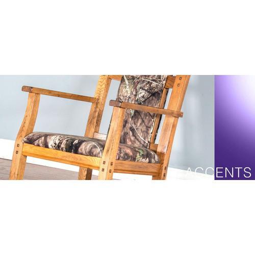 Sedona Rocker w/ Mossy Oak Fabric Seat & Back