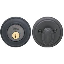 Traditional Auxiliary Deadbolt Kit in (US10B Black, Oil-Rubbed, Lacquered)