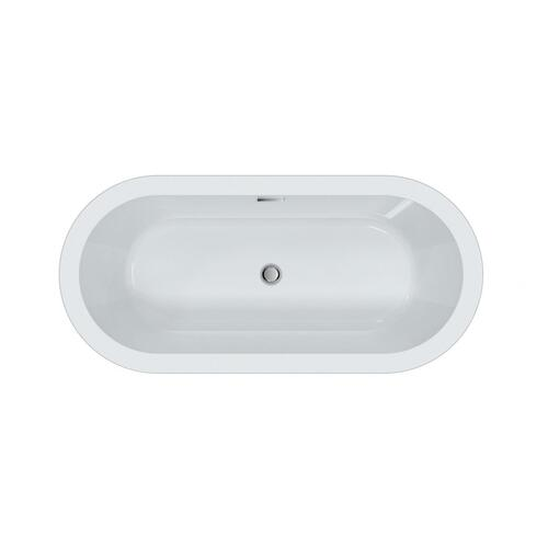 "Opus 59"" Acrylic Tub with Integrated Drain and Overflow - Polished Nickel Drain and Overflow"