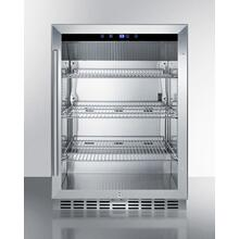Outdoor Built-in Undercounter Commercial Glass Door Beverage Center Designed for the Display and Refrigeration of Beverages and Sealed Food, With Stainless Steel Interior and Exterior Cabinet