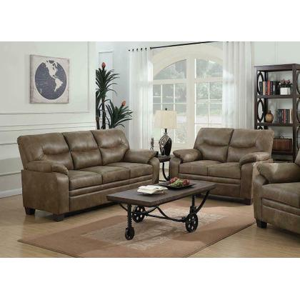 See Details - Meagan Casual Brown Two-piece Living Room Set