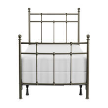 See Details - Providence Metal Twin Bed, Aged Pewter