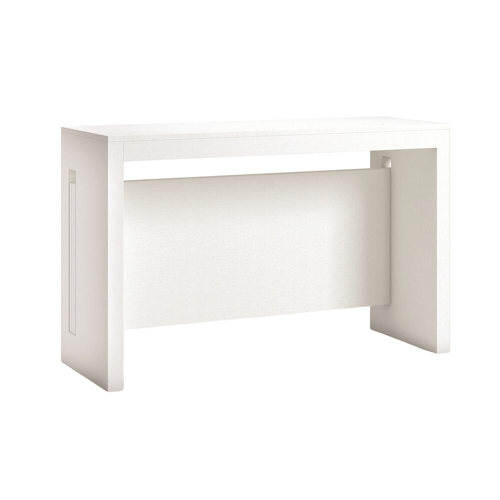 The Elasto Extendable Console Table In White Wood Grain Melamine