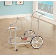 Traditional Chrome Serving Cart Product Image