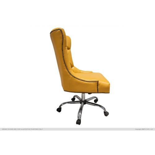 International Furniture Direct - Tufted Chair w/wheels for desk