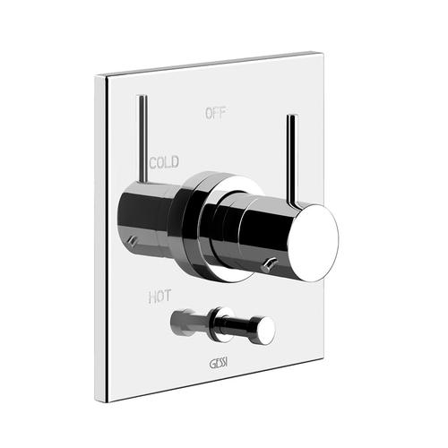 """Gessi - TRIM PARTS ONLY External parts for pressure balance with 2-way diverter Single backplate 1/2"""" connections Requires in-wall ro ugh valve 09274"""
