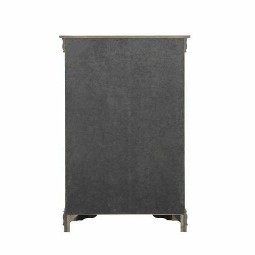ACME Louis Philippe Chest - 26796 - Dark Gray