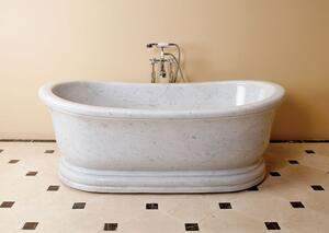 Old World Bathtub Carrara Marble Product Image