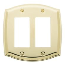 See Details - Polished Brass Colonial Double GFCI