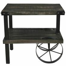 See Details - Zahir Accent Table in Distressed Grey