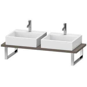 Console For Above-counter Basin And Vanity Basin, Flannel Gray Satin Matte (lacquer)