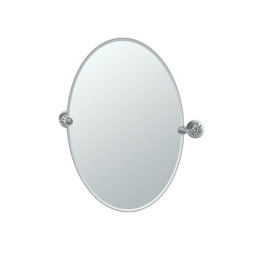 Designer II Oval Mirror in Chrome