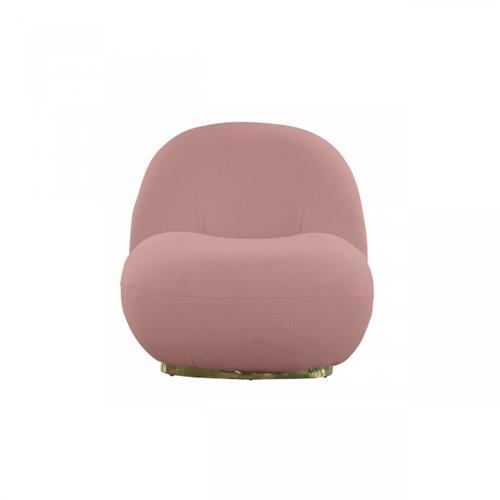 VIG Furniture - Modrest Crestone - Modern Pink Sherpa Accent Chair