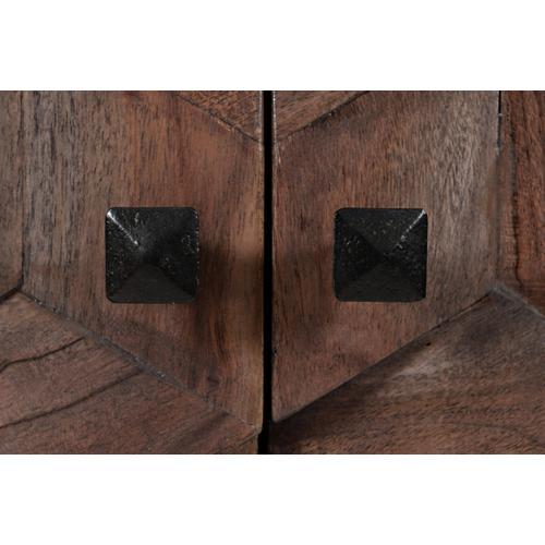 Geometrix 2 Door Accent Cabinet- D Platinum