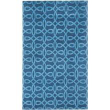 Lyrical Indigo Blue Hand Knotted Rugs