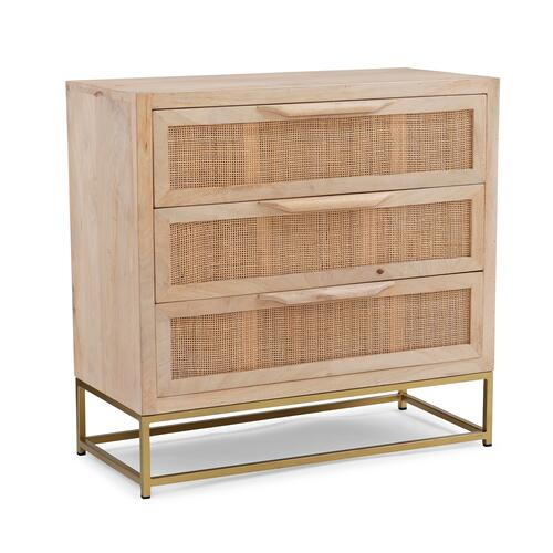 Powell Company - Raphael Rattan Cabinet Three Drawers