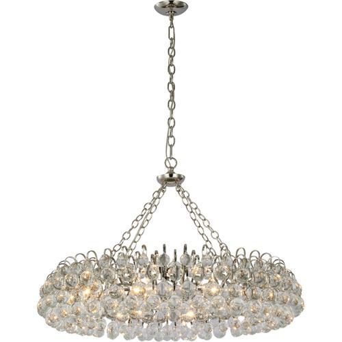 AERIN Bellvale LED 37 inch Polished Nickel Ring Chandelier Ceiling Light, Large