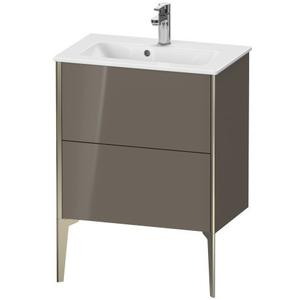 Vanity Unit Floorstanding Compact, Flannel Gray High Gloss (lacquer)