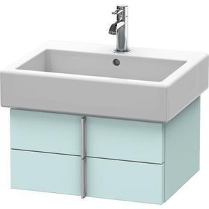 Vanity Unit Wall-mounted, Light Blue Matte (decor)