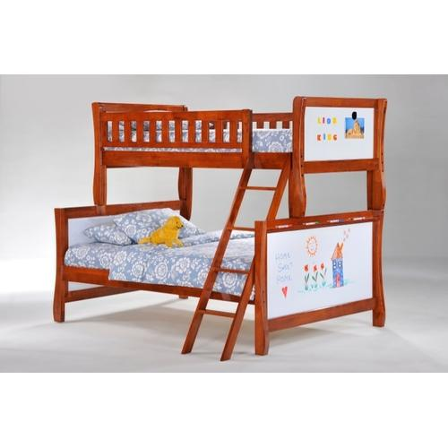 Scribbles Twin Full Bunk in Cherry Finish