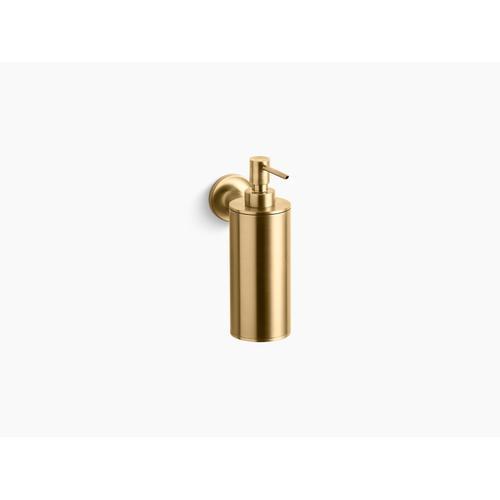Vibrant Moderne Brushed Gold Wall-mounted Soap/lotion Dispenser