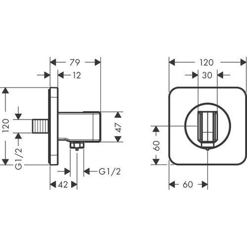 Polished Gold Optic Porter unit 120/120 softcube