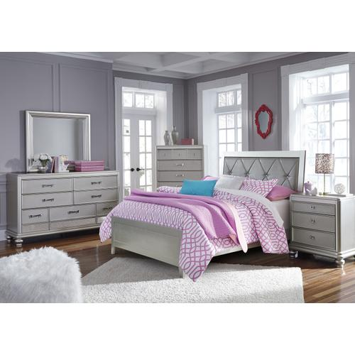 Olivet - Silver 2 Piece Bed (Full)