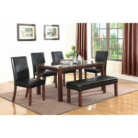 Otero Transitional Dark Brown Dining Table