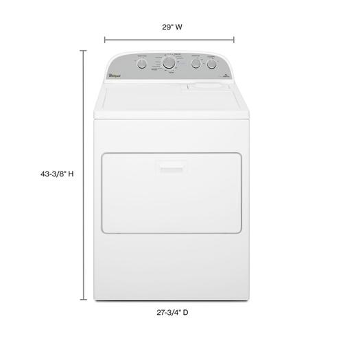Gallery - 7.0 cu.ft Top Load Gas Dryer with AccuDry™, Steam Refresh White