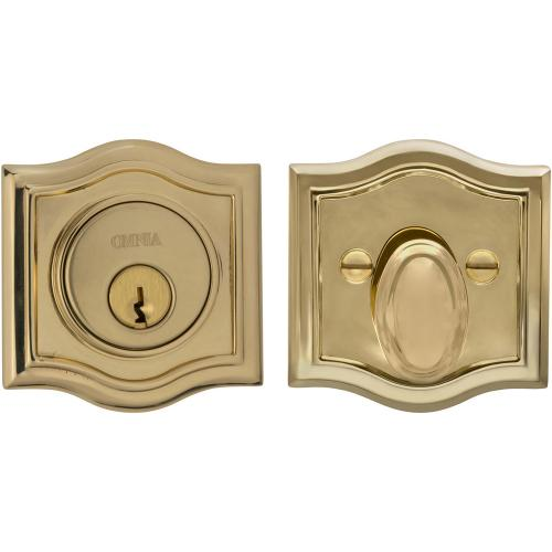 Arched Auxiliary Deadbolt Kit in (US3 Polished Brass, Lacquered)