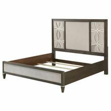 ACME Peregrine Eastern King Bed - 28007EK - Fabric & Walnut