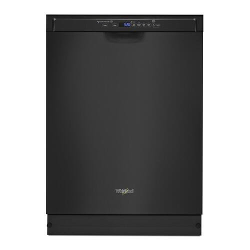 Whirlpool - Stainless steel dishwasher with 1-Hour Wash cycle Black