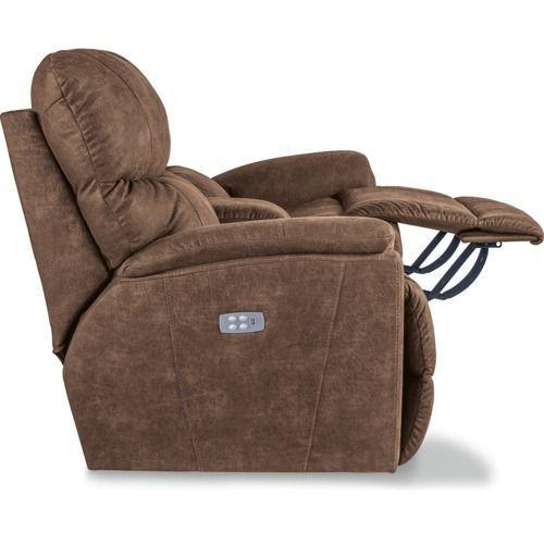 Trouper Power Reclining Loveseat w/ Headrest & Console