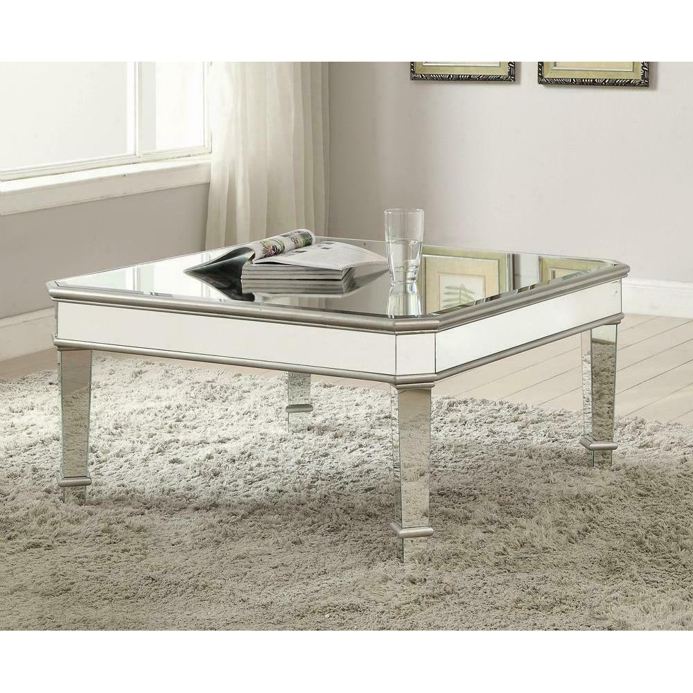 See Details - Transitional Silver Coffee Table