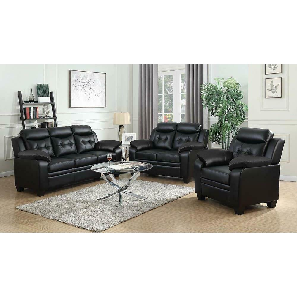 See Details - Finley Casual Brown Three-piece Living Room Set