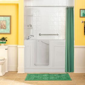 Acrylic Luxury Series 32x60 Whirlpool System Walk-in Tub, Left Drain  American Standard - White