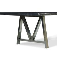 """Live Edge 30"""" Dining Height Metal Saw Horse Table Base (base Only)"""