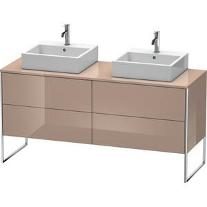 Vanity Unit For Console Floorstanding, Cappuccino High Gloss (lacquer)