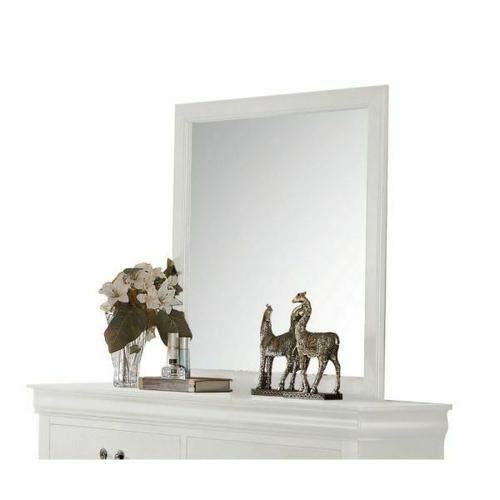 ACME Louis Philippe Mirror - 23834 - White