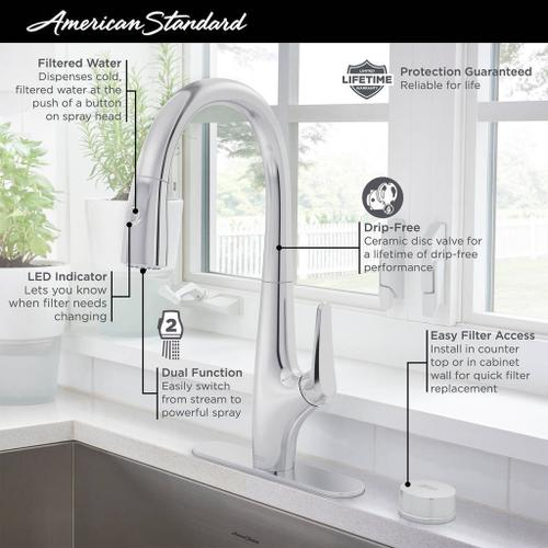 Saybrook Water Filter Faucet  American Standard - Polished Chrome