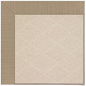 Creative Concepts-White Wicker Dupione Sand Machine Tufted Rugs