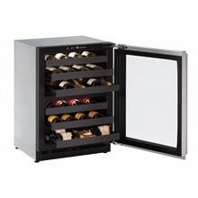 """View Product - 2224zwc 24"""" Dual-zone Wine Refrigerator With Stainless Frame Finish and Field Reversible Door Swing (115 V/60 Hz Volts /60 Hz Hz)"""
