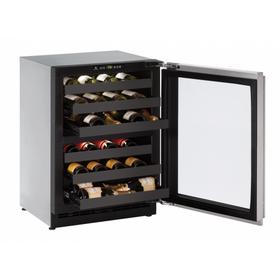"""2224zwc 24"""" Dual-zone Wine Refrigerator With Stainless Frame Finish and Field Reversible Door Swing (115 V/60 Hz Volts /60 Hz Hz)"""