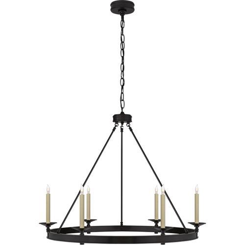 Visual Comfort - E. F. Chapman Launceton 6 Light 36 inch Bronze Chandelier Ceiling Light