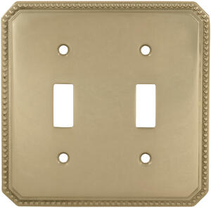 Double Beaded Switchplate in (US3 Polished Brass, Lacquered) Product Image