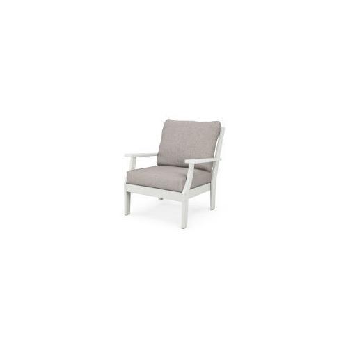 Braxton Deep Seating Chair in Vintage White / Weathered Tweed